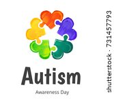 autism awareness day.... | Shutterstock .eps vector #731457793