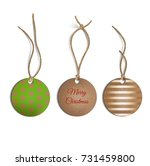 set of realistic christmas... | Shutterstock .eps vector #731459800