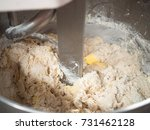 bread process by using flour... | Shutterstock . vector #731462128