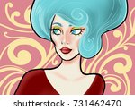 illustration with a beautiful... | Shutterstock . vector #731462470