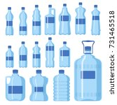 plastic water bottle vector... | Shutterstock .eps vector #731465518