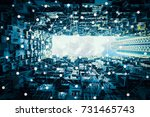 smart city and wireless... | Shutterstock . vector #731465743