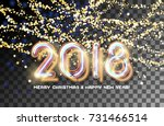 2018 merry christmas and happy... | Shutterstock .eps vector #731466514