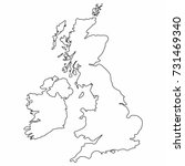 united kingdom map outline... | Shutterstock .eps vector #731469340