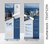 business roll up design... | Shutterstock .eps vector #731471254