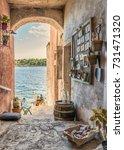 rovinj croatia istria during a... | Shutterstock . vector #731471320