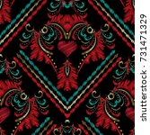 striped embroidery baroque...   Shutterstock .eps vector #731471329