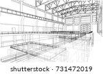 warehouse sketch. vector...   Shutterstock .eps vector #731472019