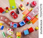 children toys | Shutterstock . vector #731474770