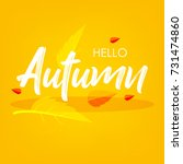 autumn season  vector... | Shutterstock .eps vector #731474860