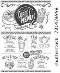 coffee drink menu for... | Shutterstock .eps vector #731476996