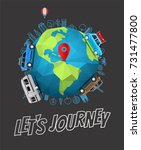 lets journey concept. vector... | Shutterstock .eps vector #731477800