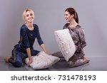 girl friends fighting on the... | Shutterstock . vector #731478193