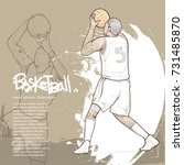 basketball player in action... | Shutterstock .eps vector #731485870