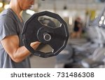 weight training exercise for... | Shutterstock . vector #731486308