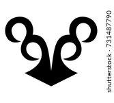 ossetian ornament. ornamental... | Shutterstock .eps vector #731487790