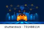 smart car wireless network... | Shutterstock . vector #731488114