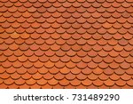 clay tile roof texture... | Shutterstock . vector #731489290