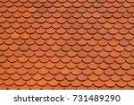 clay tile roof texture...   Shutterstock . vector #731489290
