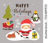 merry christmas background with ... | Shutterstock .eps vector #731489953