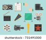 cinema movie making tv show... | Shutterstock .eps vector #731491000