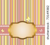 golden frame on a striped color ... | Shutterstock .eps vector #73149382