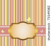 golden frame on a striped color ... | Shutterstock .eps vector #73149382