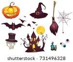 halloween vector illustrations | Shutterstock .eps vector #731496328