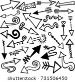 a set of 27 hand drawn doodle... | Shutterstock . vector #731506450