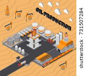 oil production isometric...   Shutterstock .eps vector #731507284