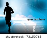 jogger. vector illustration. | Shutterstock .eps vector #73150768