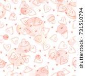 watercolor vector texture.... | Shutterstock .eps vector #731510794