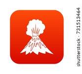 volcano erupting icon digital... | Shutterstock .eps vector #731513464