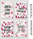 christmas cards vector... | Shutterstock .eps vector #731514178