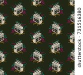 seamless pattern design made of ... | Shutterstock .eps vector #731516380