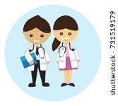 doctor cartoon character vector | Shutterstock .eps vector #731519179