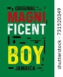 jamaica magnificent boy t shirt ...   Shutterstock .eps vector #731520349