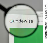 Small photo of Milan, Italy - August 10, 2017: Codewise logo on the website homepage.