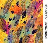 deciduous  defoliation ... | Shutterstock .eps vector #731521918