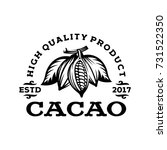 cacao logo template in style... | Shutterstock .eps vector #731522350
