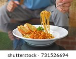 traditional spaghetti with... | Shutterstock . vector #731526694