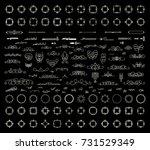 a huge rosette wicker border... | Shutterstock .eps vector #731529349