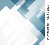 blue geometric technology... | Shutterstock .eps vector #731531020