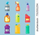 bottles of household chemicals... | Shutterstock .eps vector #731531254