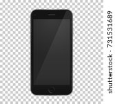 black phone 8 template with... | Shutterstock .eps vector #731531689