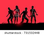 a group of decaying flesh... | Shutterstock .eps vector #731532448