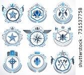 heraldic decorative emblems...   Shutterstock .eps vector #731537758