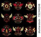 vector vintage heraldic coat of ...   Shutterstock .eps vector #731540248