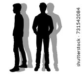 Vector Silhouettes Of Men...
