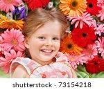 Little Cute Girl Lying On The...